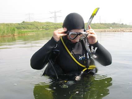 Diving at Oostvoornse Meer