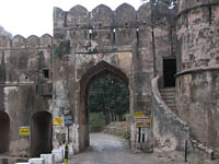 Entrance gate to Ranthambhore National Park, India