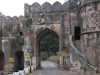 Entrance gate to Ranthambhore National Park, India