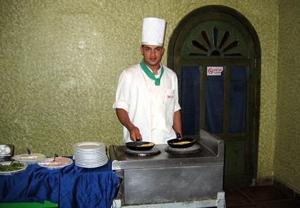 Omelette Man at Amar Sina Hotel