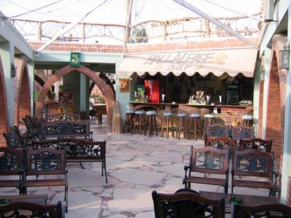 Upstairs bar at Amar Sina Hotel