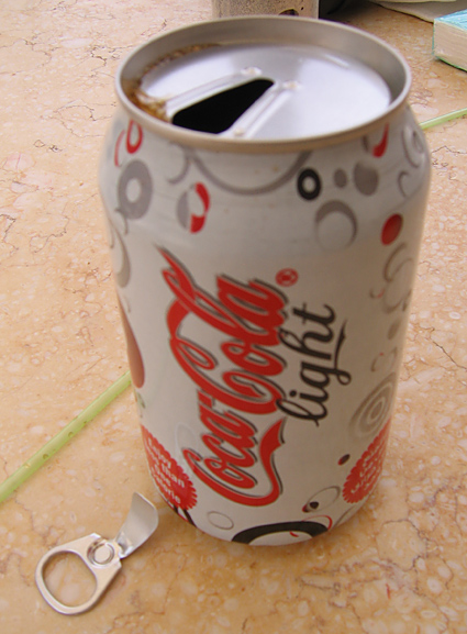 Egyptian Coke can from 2007 with an old-fashioned pull-tab