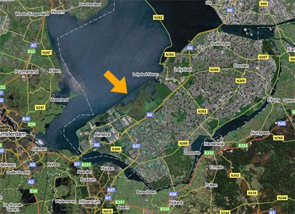 Flevoland satellite photo