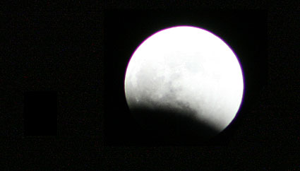 Total Lunar Eclipse from Leiden, the Netherlands - Stage 1
