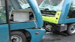 Robot buses crash