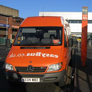 easyBus at London Luton Airport