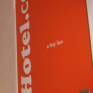 a 'tiny loo' at easyHotel, London