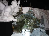 Offering van Izaak made of ice