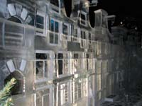 Typical Leiden houses made of ice