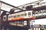 The world's first monorail in Wuppertal