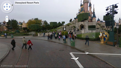 Disneyland Google Maps on