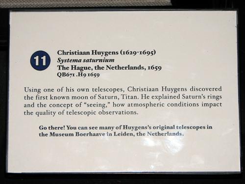 Sign for Leiden museum at Adler Planetarium