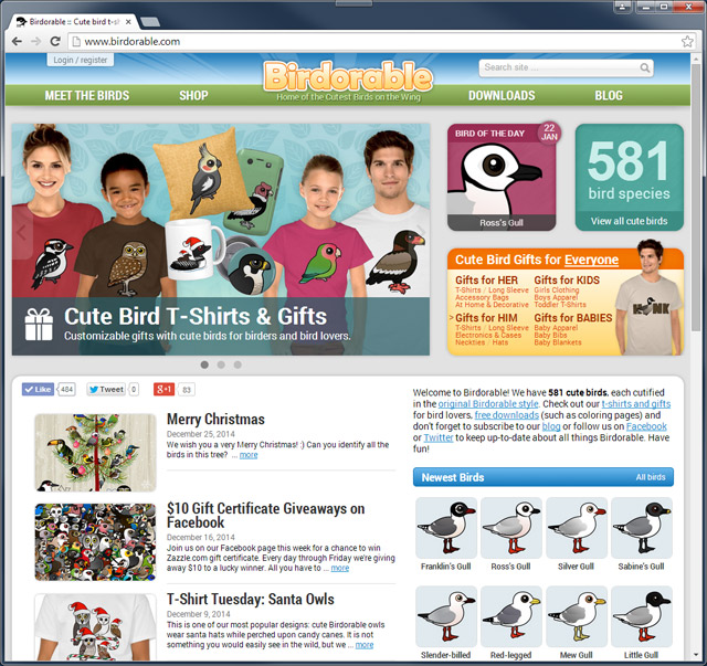 Birdorable website screenshot